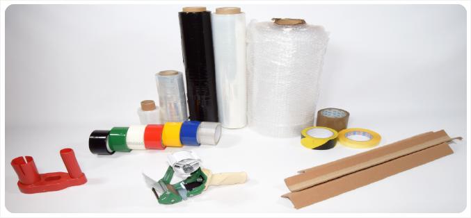 Fólie, ochranné hrany a jiné obalové materiály